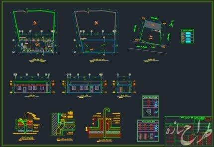 نقشه ساختمان بنایی 1 طبقه 70 متری