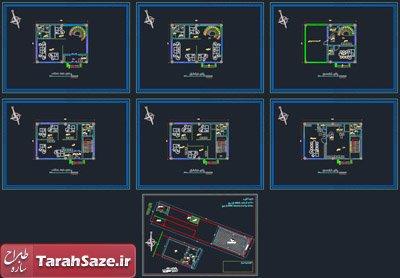 نقشه پلان معماری ساختمان اداری 3 طبقه