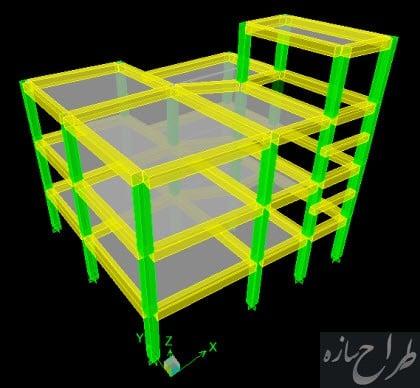 فایل Etabs و Safe ساختمان بتنی 3 طبقه