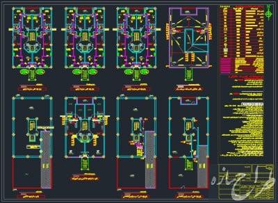 نقشه تاسیسات مکانیکی آپارتمان 6 طبقه 13 در 20