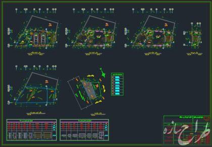 فایل محاسباتی و نقشه ساختمان 3 طبقه مسکونی و تجاری با بر 16 متر