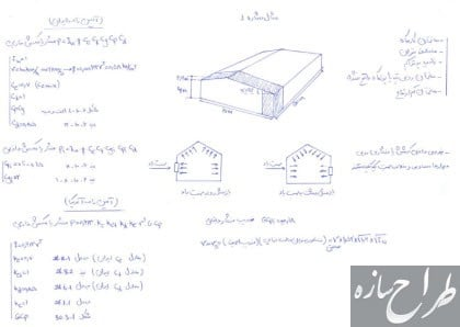 مثال های حل شده از بار باد سوله و ساختمانهای بلند مرتبه
